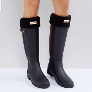 NWT Hunter Original Tall Fleece Welly Boot Socks